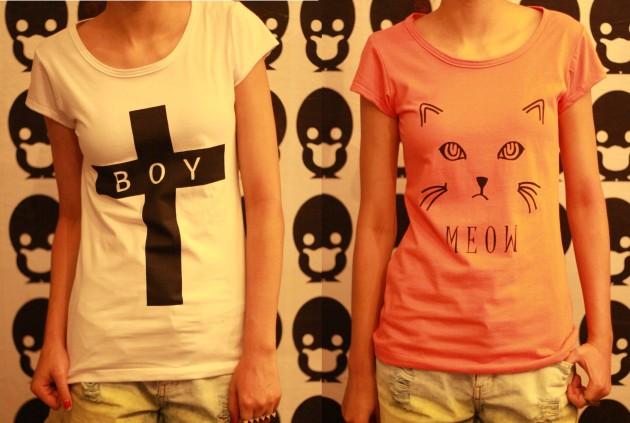 camiseta cruz e meow
