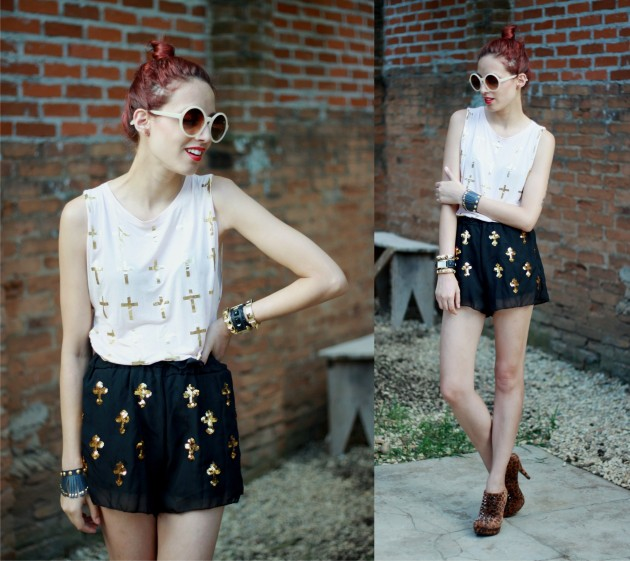 look shorts and shirt - cross