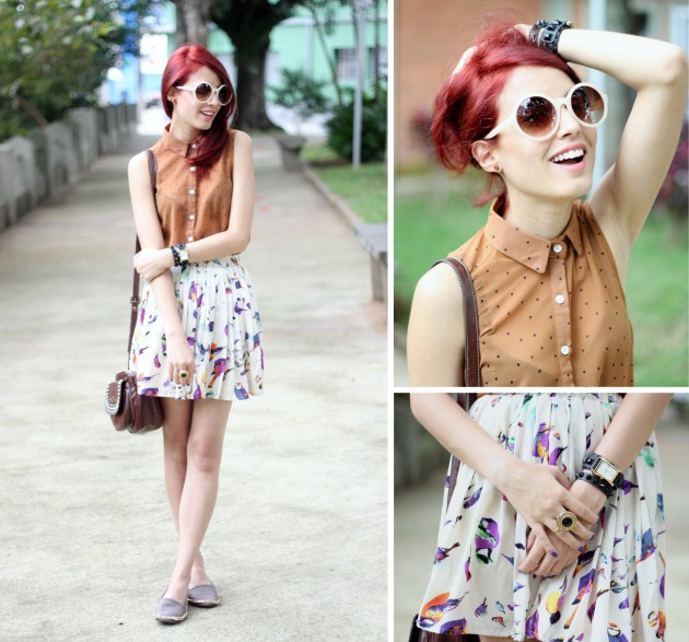 look skirt e espradille