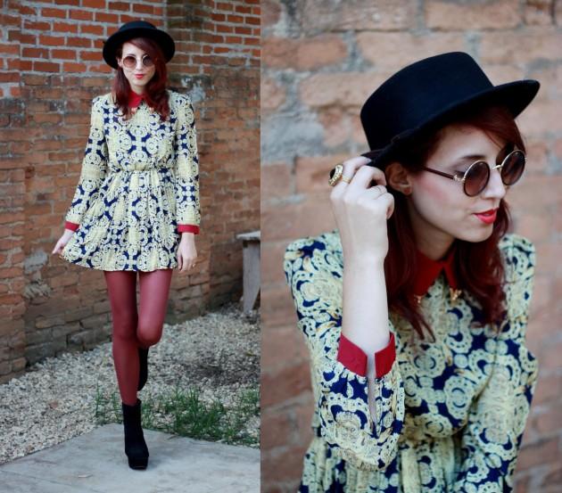 look vestido + chapéu 1
