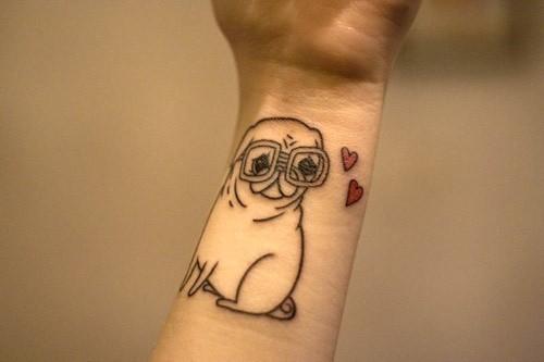 dog cute tattoo