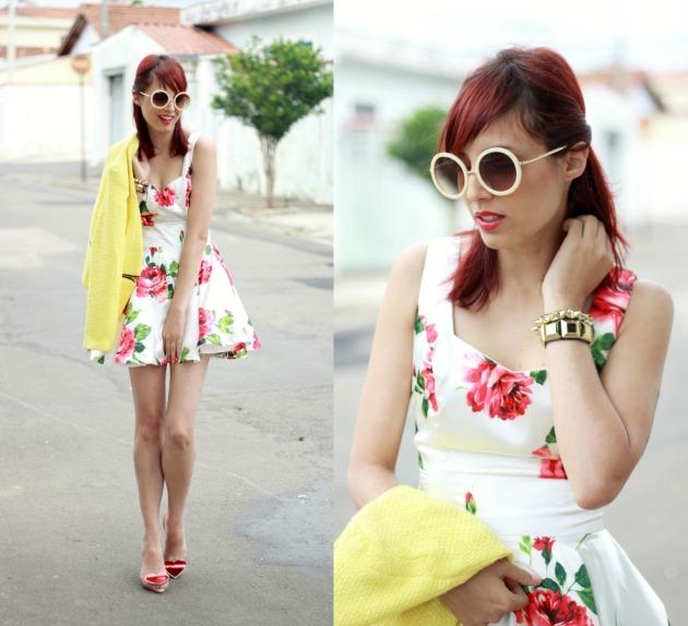 look roses dress o