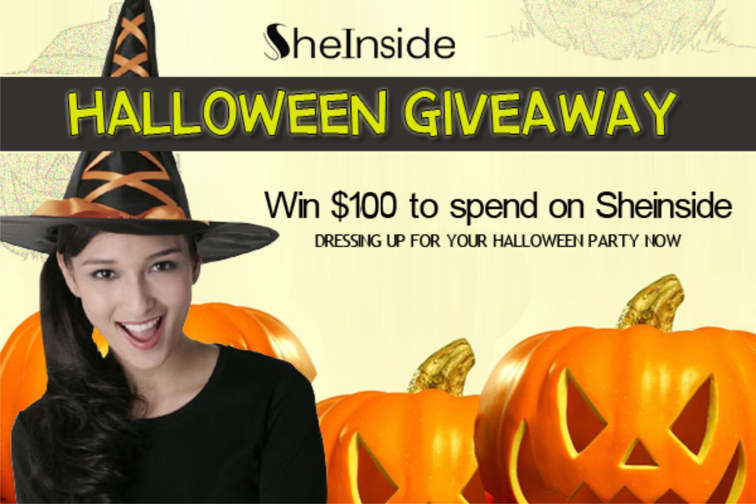 sheinside giveaway halloween